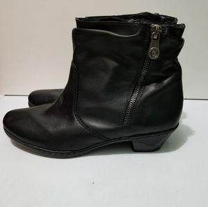Rieker Antistress Black Ankle Boots 41 (9.5)